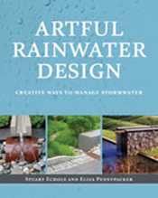 Cover is three images of rainwater design on a blue water droplet backgrou