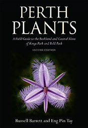 Cover of Perth Plants featuring an image of a sand-dune fringed lily on a