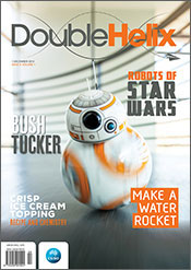 Cover image shows photograph of the new Star Wars rolling robot.