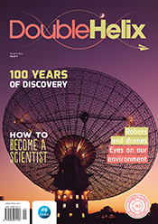 Cover featuring Parkes radio telescope on a purple background.