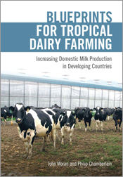 Cover featuring several dairy cows standing in front of a milking shed.
