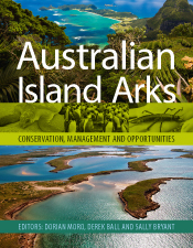Cover of Australian Island Arks featuring photos of islands and the wildli