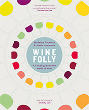 Infographic-style wine glasses arrayed in a circular fashion.