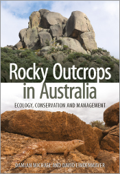 Cover featuring two photos: at top, a rocky outcrop against the sky and, a