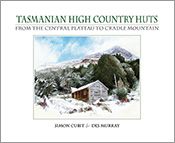Illustration of a Tasmanian High Country hut in the snow by illustrator De