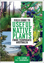 Cover featuring four images of native plants overlaid with text.