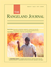 Innovation in Australian Rangelands. A special issue from the 18th Biennial Conference of the Australian Rangeland Society