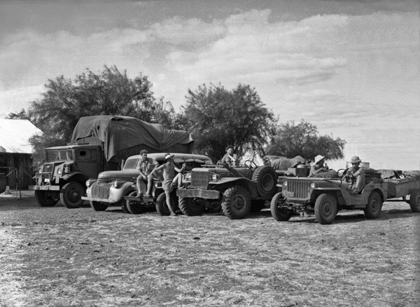 Survey vehicles near Anthony's lagoon, Barkly Region Northern Territory–Queensland 1948