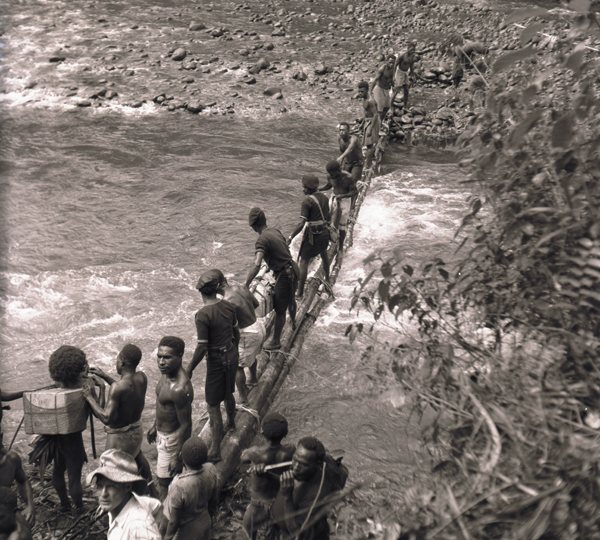 Crossing the Mubi River at Mendi–Tari, New Guinea 1961