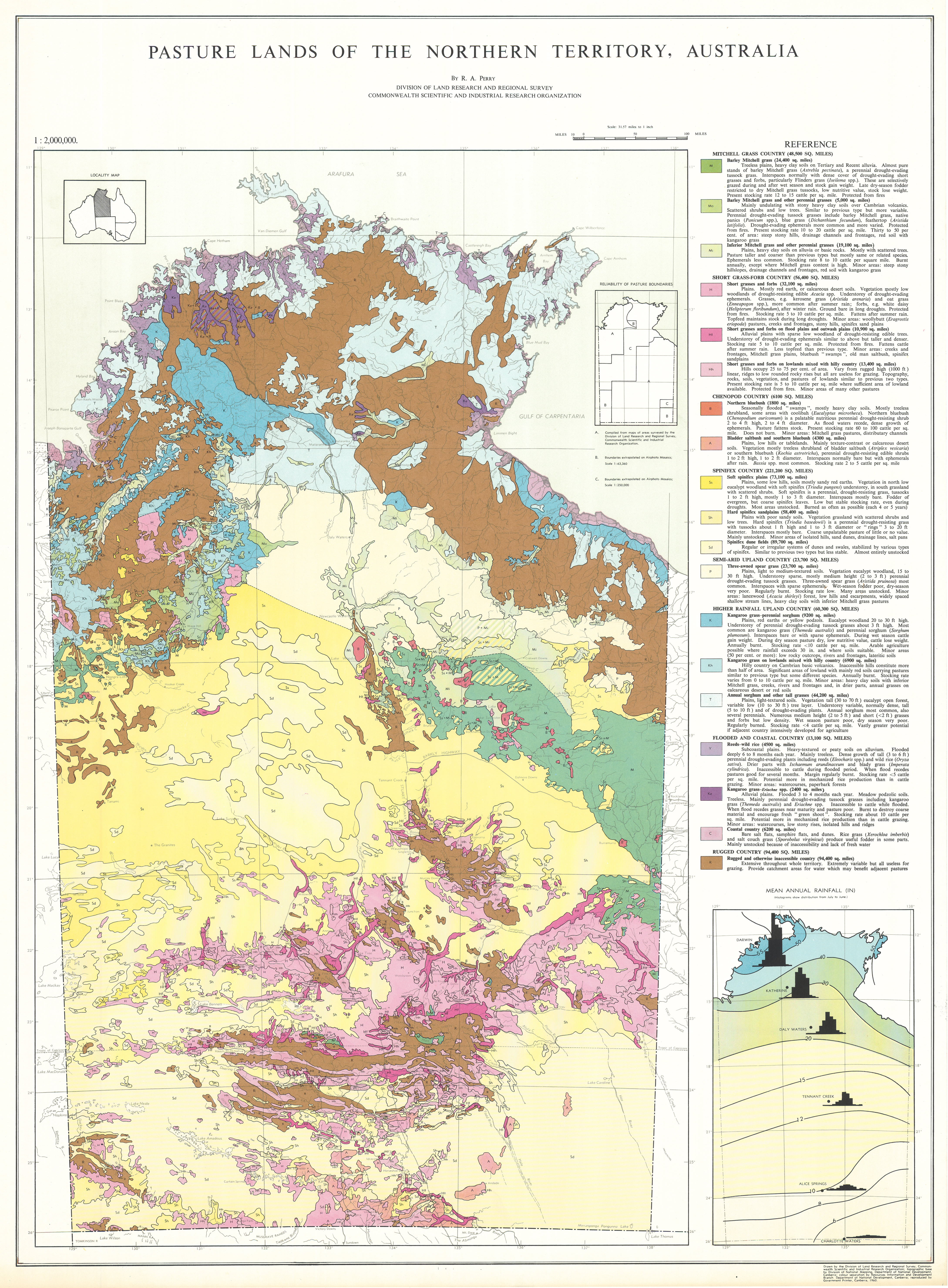 Map Northern Australia.Csiro Publishing Csiro Land Research Surveys