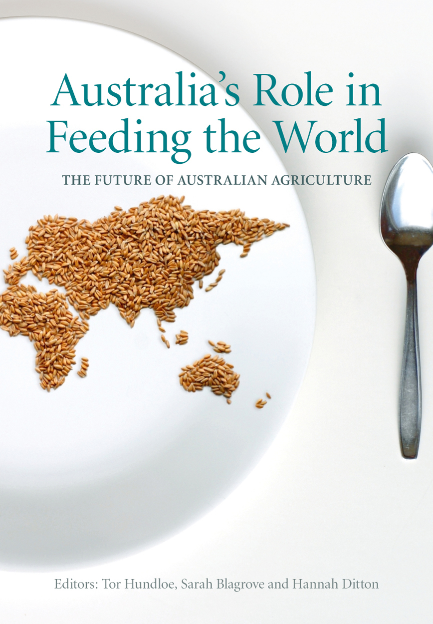 Australias role in feeding the world tor hundloe sarah blagrove cover featuring an image of a plate with a map of the world made out of malvernweather Choice Image