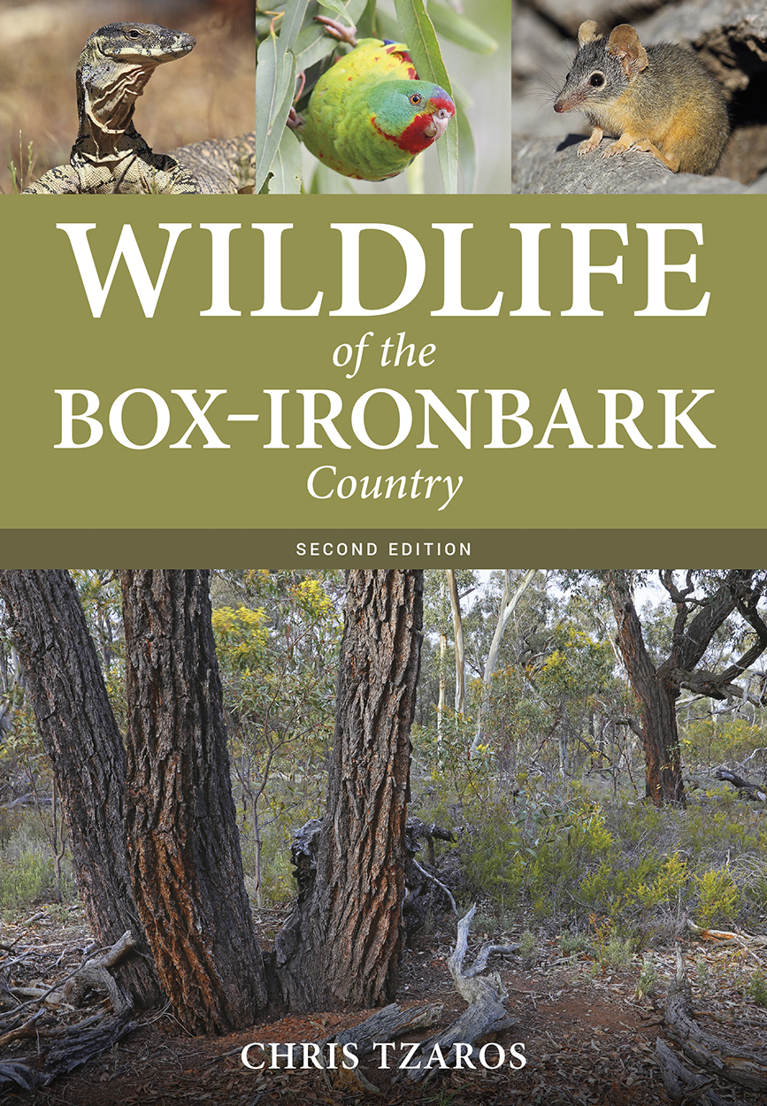 Cover image of Wildlife of the Box–Ironbark Country, second edition, featu