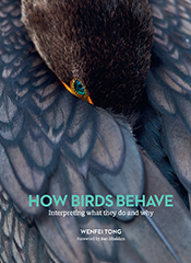 Cover of 'How Birds Behave' featuring a close-up photo of a dark bird with